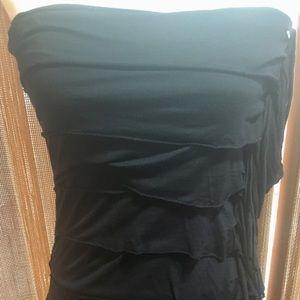 GUESS black sleeveless halter dress